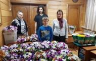 Цветы для пожилых насельников Дубинского дома престарелых